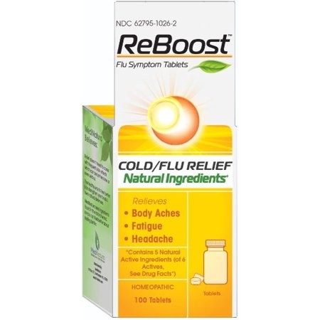 Medinatura ReBoost Cold & Flu Tablets, 100 Ct Flu 100 Tabs