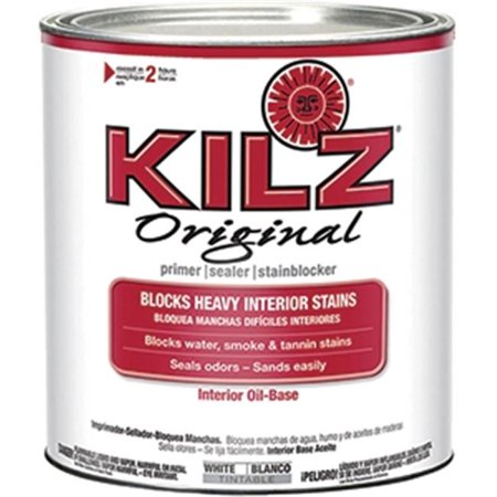KILZ Original Interior Oil-Based Primer/Sealer/Stain Blocker Low VOC Formula, White, 1 quart