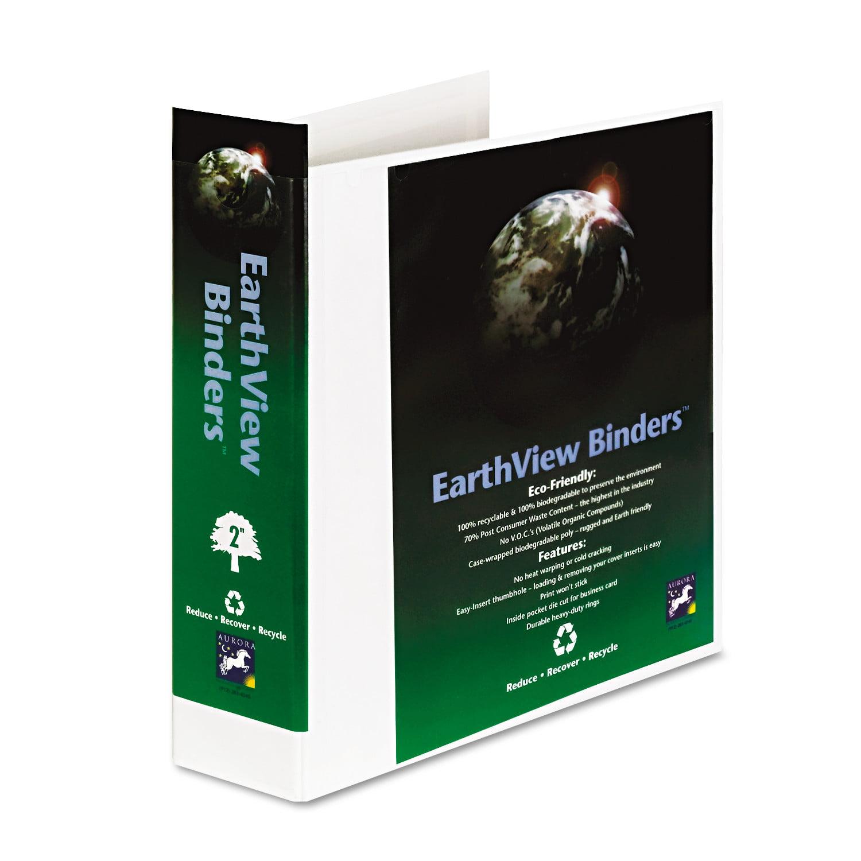 Aurora Products Earthview Round Ring Presentation Binder
