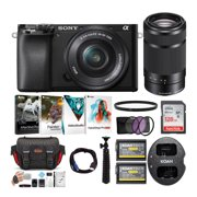 Sony Alpha a6100 APS-C Mirrorless Camera with 16-50mm and 55-210 Lens Bundle