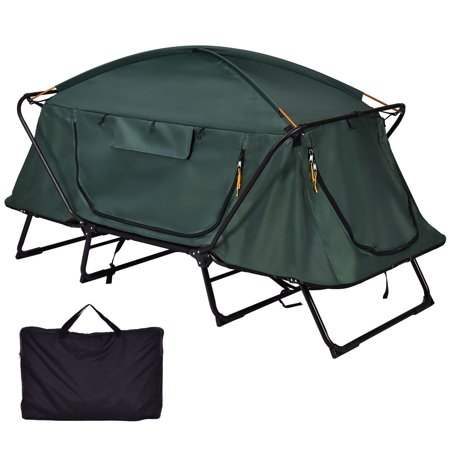 Gymax Hiking Outdoor Folding 1 Person Waterproof Elevated ...