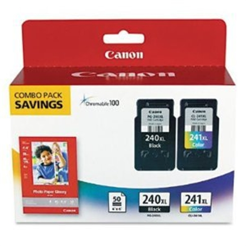 Canon PG-240XL / CL-241XL Black - Color High Yield Ink Cartridge for PIXMA MG2120 MG3120 MG4120 Printers 5206B005