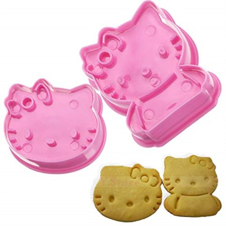 1 Set Cute Kitty Cat Design Baking Cookie Fondant Cake SugarCraft Biscuit Chocolate Clays DIY Modelling Paste Decorating Plunger Cutter Stamp Pull Press Mold Tools