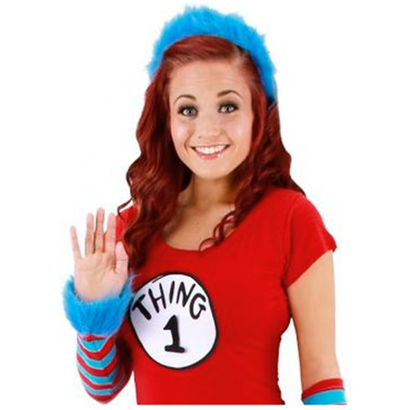 Dr. Seuss Thing 1 & 2 Fuzzy Costume Headband Adult (Dr Seuss Characters Costume Ideas)