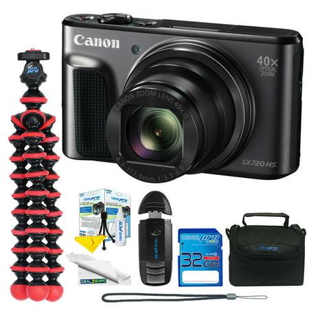 Canon PowerShot SX720 HS Digital Camera (Black) + Expo Advanced Kit -  Deal-Expo