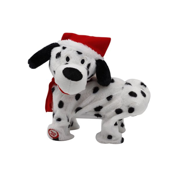 Christmas Style Cute Singing Dancing Puppy Plush Toy Electric Music Rotating Children S Dog Doll Flip Over Puppy Walks Sits Barks Somersaults Dalmatian Dog Toy Walmart Com Walmart Com