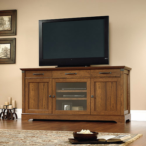 "Sauder Carson Forge TV Stand for TVs up to 70"", Washington Cherry"