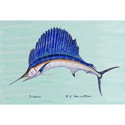 Betsy Drake Interiors Coastal Sailfish Doormat