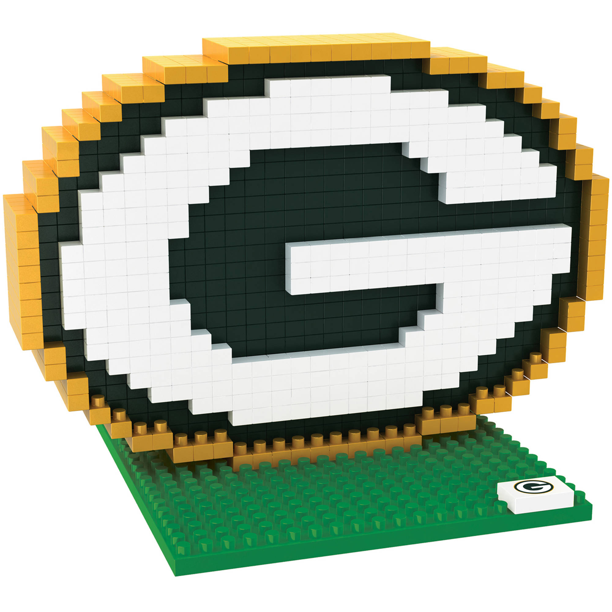 Forever Collectibles NFL 3D BRXLZ Logo Building Blocks, Green Bay Packers