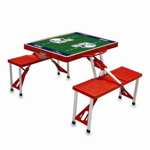 Picnic Time Picnic Table Sport, Red New England Patriots Digital Print