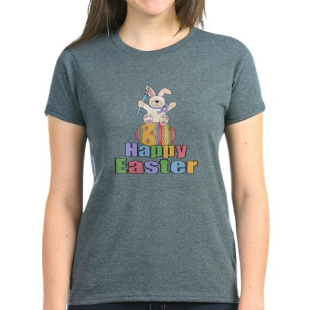 6a6061aca CafePress - CafePress - Happy Easter Artist Bunny Women's Dark T Shirt -  Women's Dark T-Shirt - Walmart.com