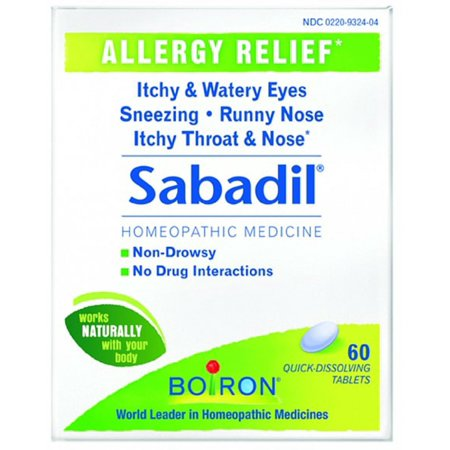 Boiron Sabadil Tablets 60 Tablets (Pack of 3)