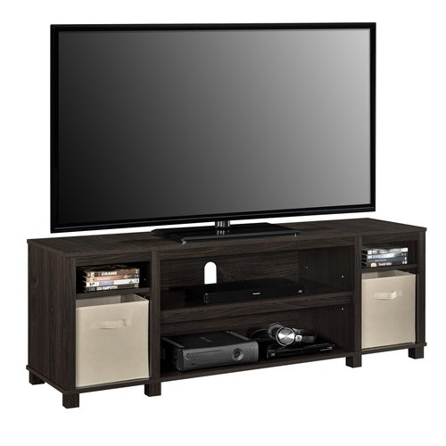 65 inch tv stand entertainment center media storage home theater wood console ebay. Black Bedroom Furniture Sets. Home Design Ideas