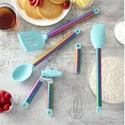 Farberware 5-piece Iridescent and Aqua Kitchen Tool and Gadget Set