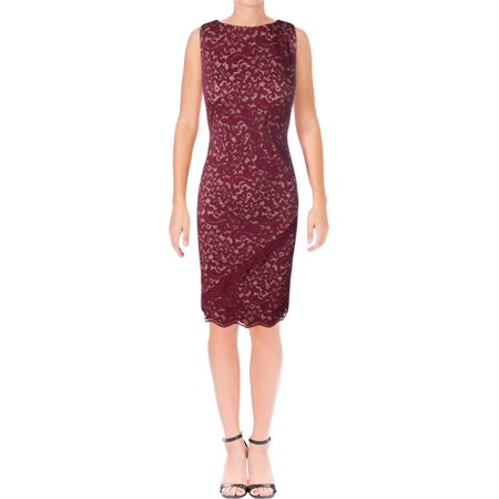 Lauren Ralph Lauren Womens Lace Overlay Sleeveless Party - Dresses Lace Overlay
