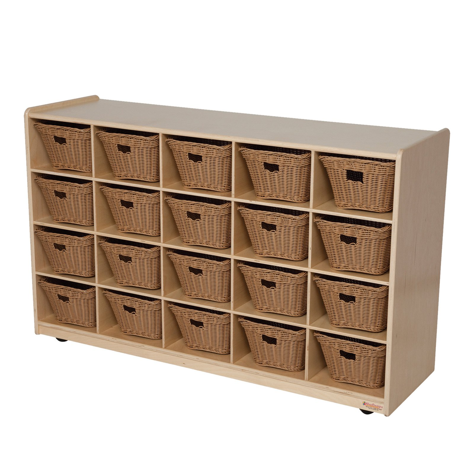 Wood Designs 20 Tray Storage with Baskets