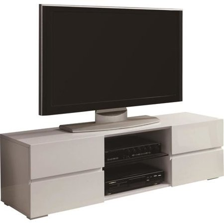 Coaster White Four Storage Drawer TV Console for TVs up to 55