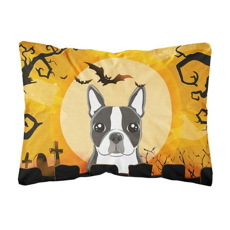 Halloween Boston Terrier Fabric Decorative Pillow Walmart Amazing Fabric For Decorative Pillows