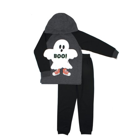 Interactive Halloween Hoodie Sweatshirt & Jogger Pants, 2pc Outfit Set (Baby Boys & Toddler Boys) for $<!---->