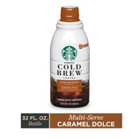 Starbucks Cold Brew Coffee  Caramel Dolce Flavored  Multi-Serve Concentrate  1 bottle (32 oz.)