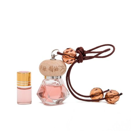 THY COLLECTIBLES Fragrance Oil Aromatic Perfume Oil Locket Pendant- Coco Scent 10ML Prefilled Elegant Quadrangle Glass Bottle And An Extra 3ML Refill-Nice Hanging Decoration Display For Home Or Car