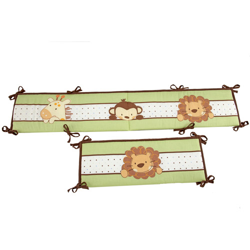 Little Bedding by NoJo Jungle Pals Crib Bumper