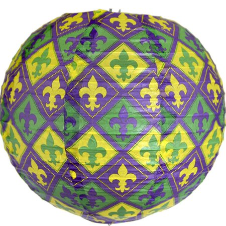 3x Mardi Gras Themed Carnival Party Hanging Lantern Decorations, 10 in size By Havercamp