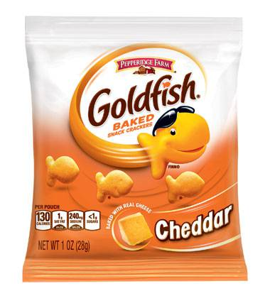 Pepperidge Farm Campbell Goldfish Cheddar Cheese Cracker Case1oz (PACK OF 60)