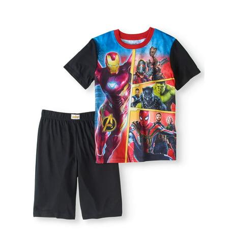Infinity War Boys 2-Piece Poly Pajama Sleep Short Set