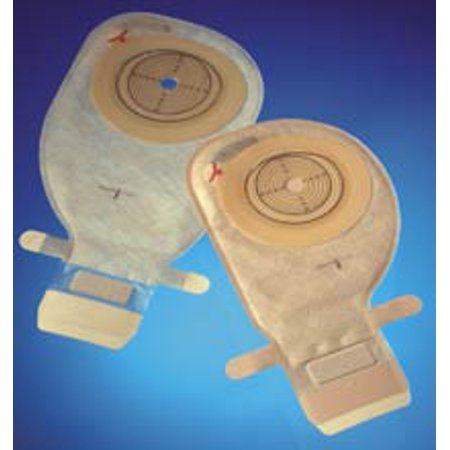 Ostomy Pouch Assura EasiClose One-Piece System 11 Inch Length 31 mm Stoma Drainable Convex Light, Pre-Cut