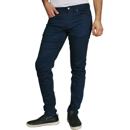 Hey Collection Mens Slim Fit Stretch Twill Jeans
