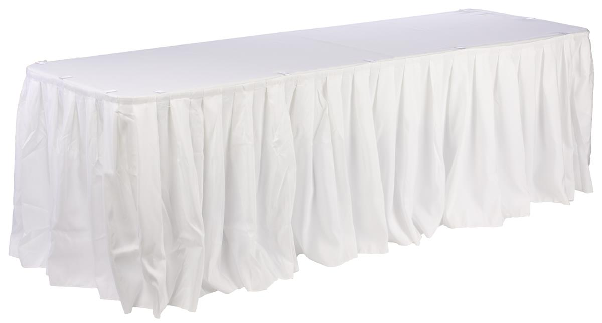 Cool Displays2Go Set Of Linens For Banquet Tables 72 X 30 Inch Includes Tablecloth Table Skirt And 10 Clips Fits 6 Foot Long Rectangular Tables Download Free Architecture Designs Scobabritishbridgeorg