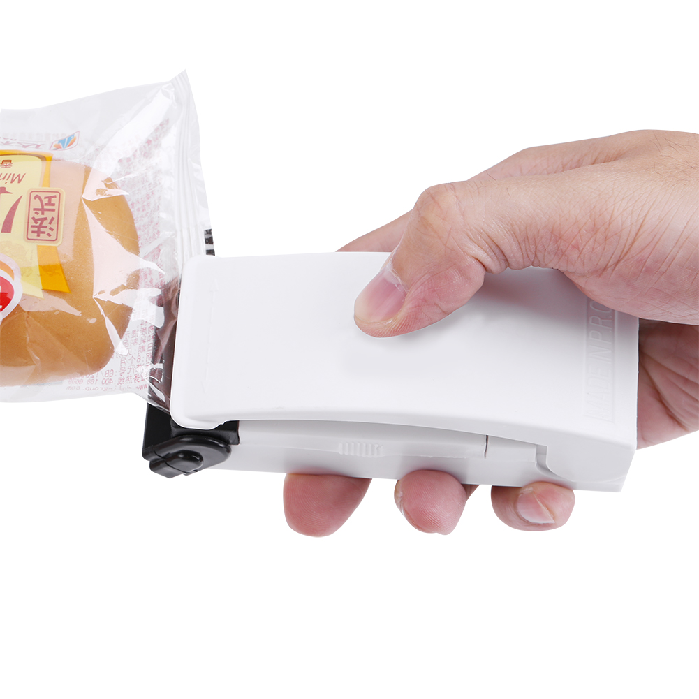 Plastic Bag Sealer Mini Bag Sealer Handheld Machine for Home Food Preservation White by ZJchao01