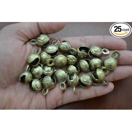 25 Pcs Belly Dance Brass Bells Gypsy Wicca Tribal Craft, Handmade of solid brass By MyGANN