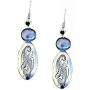 Western Women Earrings Engraved Domed Ovals 311-170
