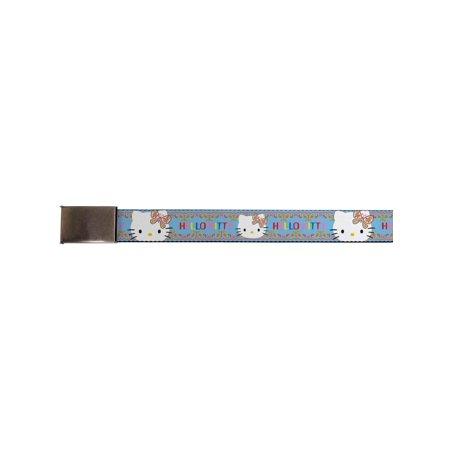 hello kitty animated character hippy paisley kitty web belt