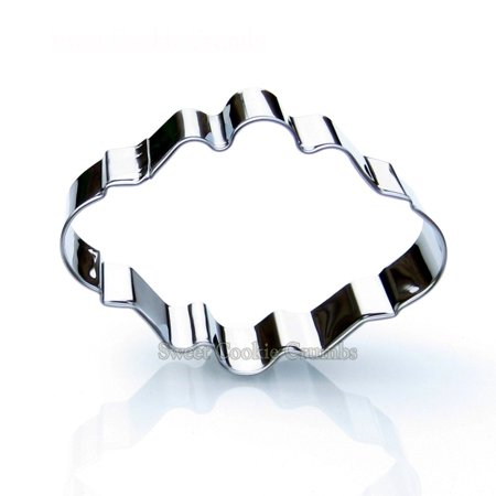 Oval Plaque Frame Cookie Cutter- Stainless (Oval Mat Cutters)