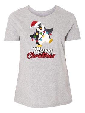3ce188fd Product Image Merry Christmas Penguin Women's Plus Size T-Shirt