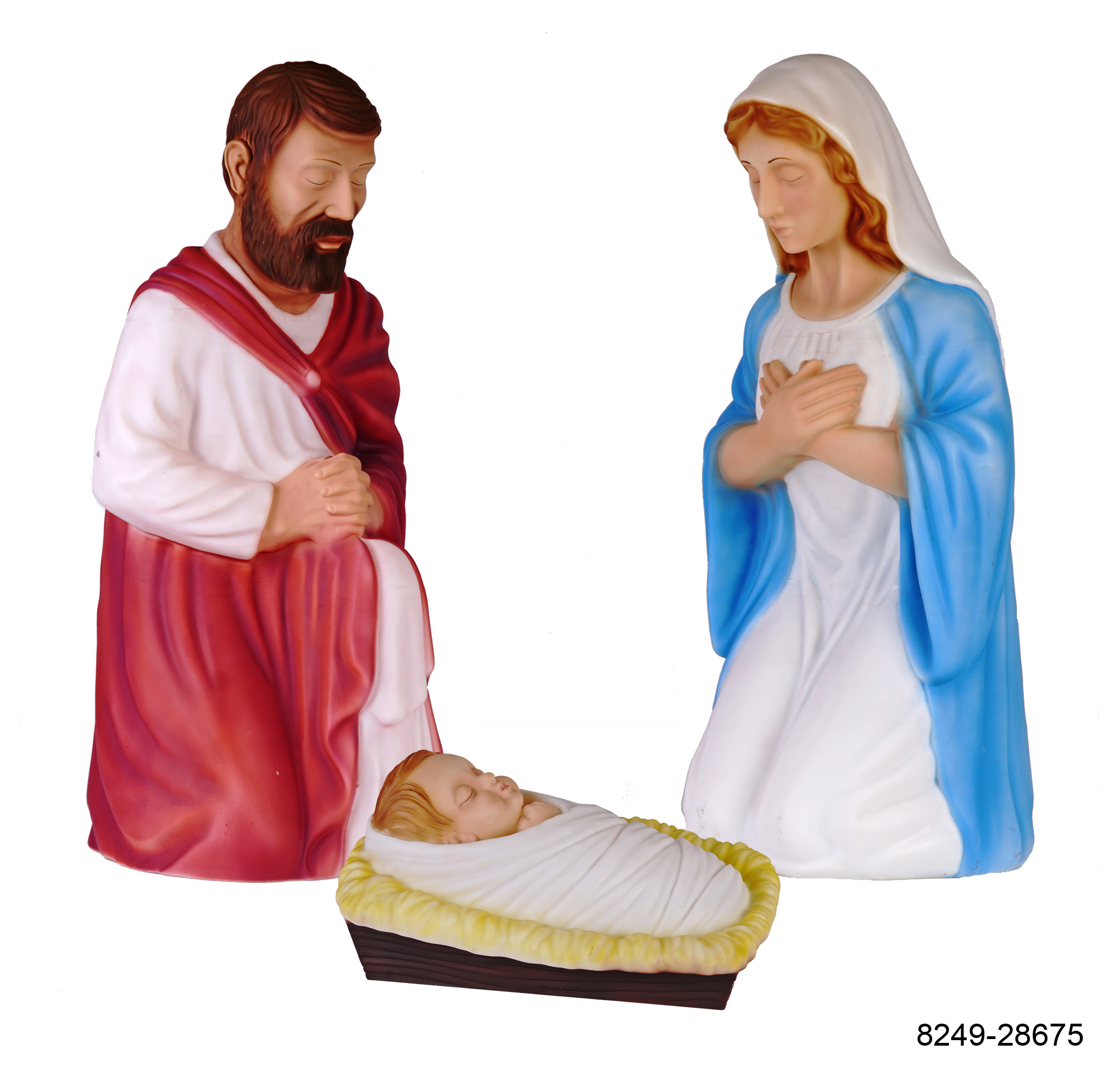 Holiday Time 3pcs Nativity Set