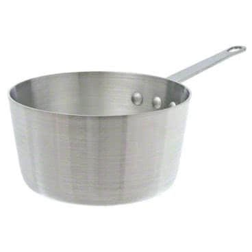 Winco ASP-8SW, 8.5-Quart Tri-Ply Stainless Steel Straight-Sided Sauce Pan w/? Lid, Natural Finish, NSF