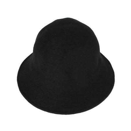 Bowler Hat Kids (WITHMOONS Wool Winter Floppy Short Brim Womens Bowler Fodora Hat DWB1104)