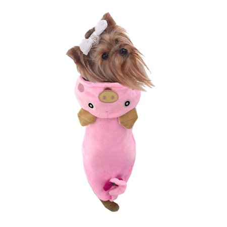 DZT1968 Cool Cute Pink Pig Dog Pet Cosplay Thick Costume Clothing Comfortable - Dog Pig Costume