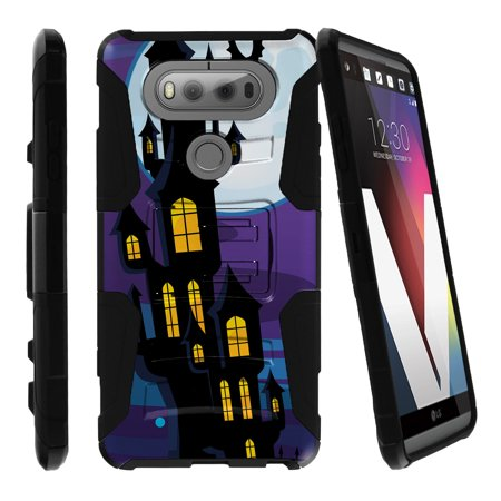 LG V20 Case | V20 Case Shell [Clip Armor]- Premium Defender Case Hard Shell Silicone Interior with Kickstand and Holster by Miniturtle® - Haunted Mansion