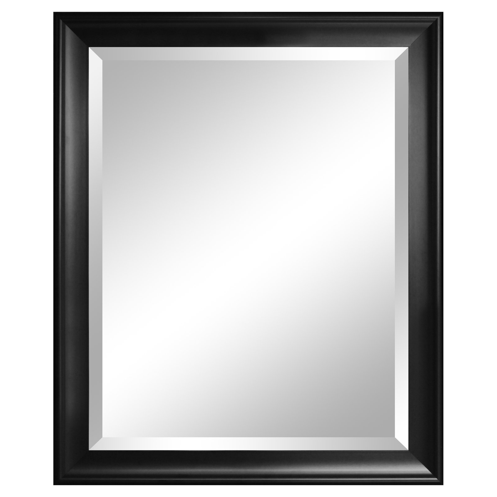 Symphony Black Beveled Wall Mirror - 28W x 34H in.