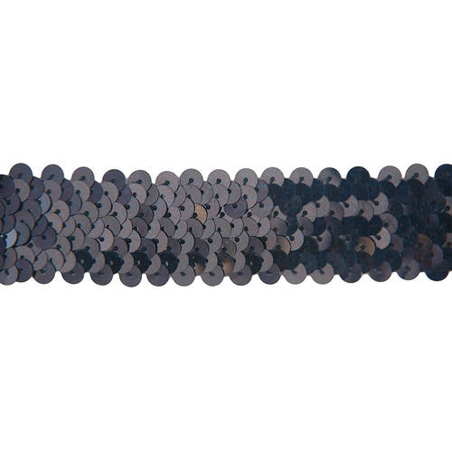 Threadart Stretch Sequin Trim Roll, 11 yd Length, Available in 18 colors, 2 Widths