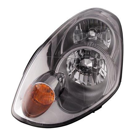 2005-2006 Infiniti G35 Headlamp Fits 4-Door Sedan Only (HID Only) Headlight w/o Bulbs or Ballasts Driver Left Passenger Assembly NI2503122 & (G35 Light Bulbs)
