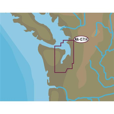- C-Map NA-C714C-CARD NT Puget Sound & Straits of Juan De Fuca - C-Card Format