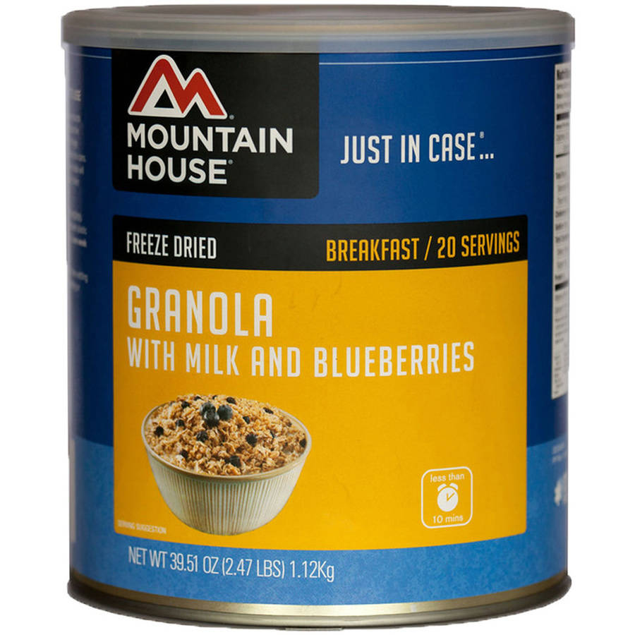 Mountain House Granola with Milk and Blueberry Can