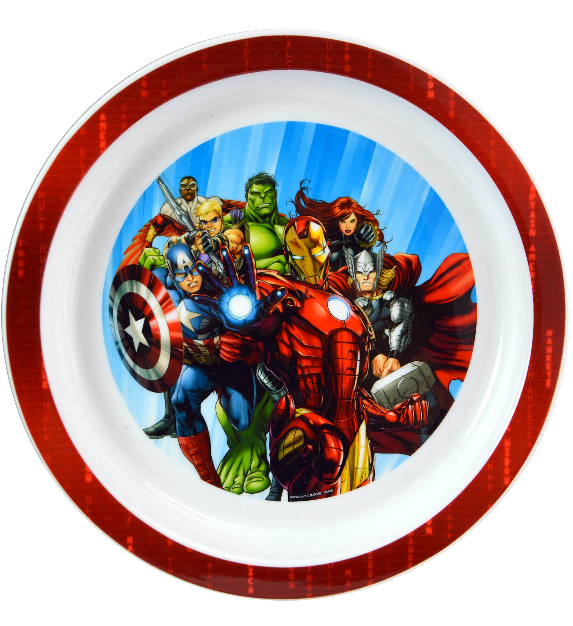 Zak Zak Designs Avengers Assemble Childrens Plastic Plate Novelty Character Serveware