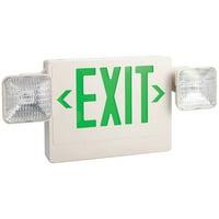 LUMAPRO Exit Sign w/Emergency Lights,5.4W,Grn 6CGL8